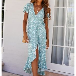 Hello Molly Floral wrap dress